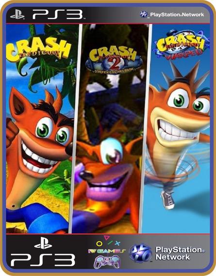 Ps3 Crash Bandicoot Trilogy Psone Classic Mídia Digital