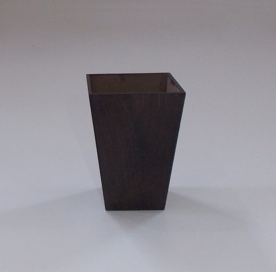 Vaso Mdf Kit 20 Vasos Quadrado Cone 11x8x8 3mm Verniz 40404