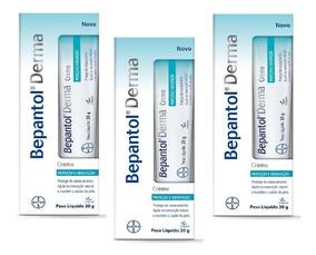 Kit Com 3 Bepantol Derma Creme 20g Hidratação E Proteção