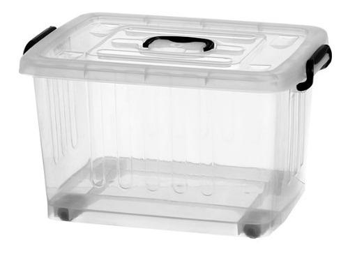 Caja Plástica Organizadora 38l Con Ruedas- Plasnew