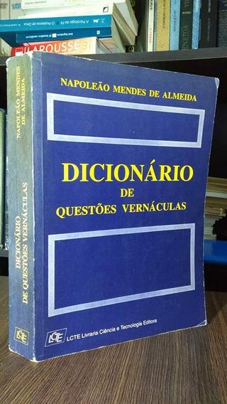 Dicionário De Questões Vernáculas-napoleão Mendes De Almeida
