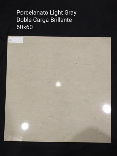 Porcelanato Light Gray Doble Carga Brillante 60x60