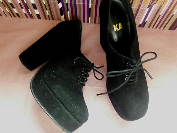 Mishka#37 Zapato Nvo Cuero/sarkany/prune/envio Gratis !