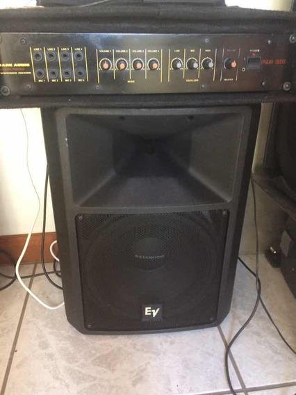 Caixa Passiva Eletro Voice Sx200 Com Amplificador Mark Audio
