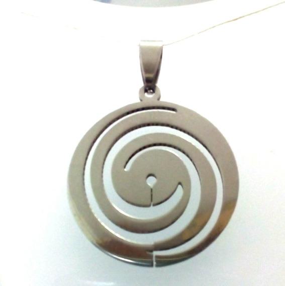 Pingente Aço Simbolo Hipnose Espiral Meditação M1