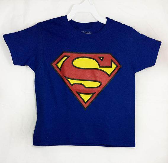 Playera Para Niños Unisex Logo De Superman Clark Kent