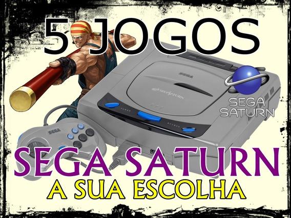 5 Jogos Para Sega Saturn Desbloqueado (a Sua Escolha)