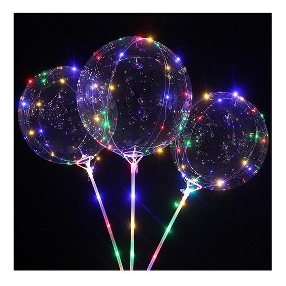 10 Globo Burbuja Transparente 30 Luces Led