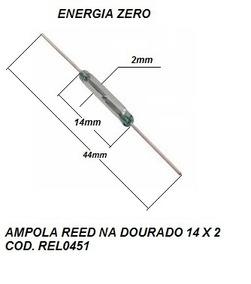 Ampola Reed 2 X 14mm Cod. Rel0451 Frete Cr