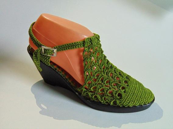 Sandalia Tejida Crochet Artesanal
