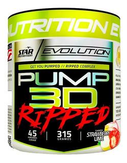 Pump 3d Ripped 315 Gr Star Nutrition Pre Entreno + Quemador
