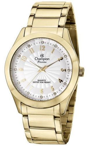Imagem 1 de 1 de Relógio Champion Original Passion Feminino Dourado Cn29409h