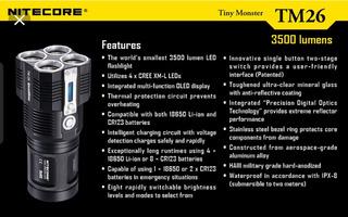 Lanterna Tatica Ultra Potente Nitecore Tm26