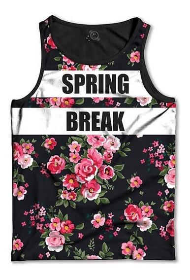 Regata Floral Spring Break Camiseta Regata Masculina
