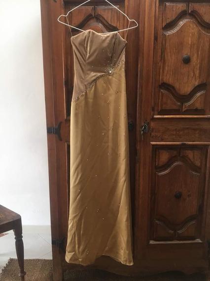 Vestido Largo De Dama Dorado 50$