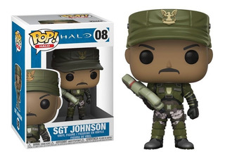 Funko Pop 08 Halo - Sgt Johnson