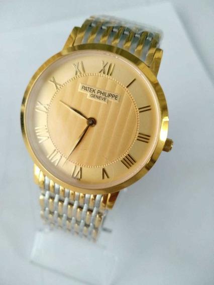 Relógio Patek Philippe Gold Pront Entrega Vidro Em Safira!