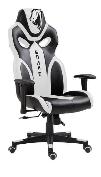 Cadeira Gamer Python Snake Gaming Reclinável 021 - Branco
