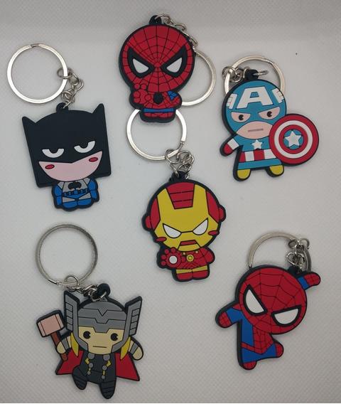 Llaveros Silicona Avengers Comics Marvel Y Dc