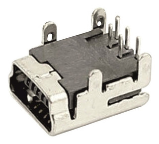 Jack Mini Usb De 5 Pin Conector De 4 Pies