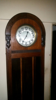 Impresionante Reloj De Pie, Alemán Grandfather 1/2 Carrillon