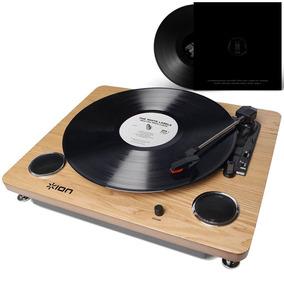 Toca-discos Vitrola Vintage Alto-falantes Conversor Digital