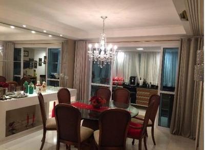 Apartamento Quatro Suítes Finamente Decorado E Mobiliado Para Aluguel No Bairro Aquarius - Sl0830