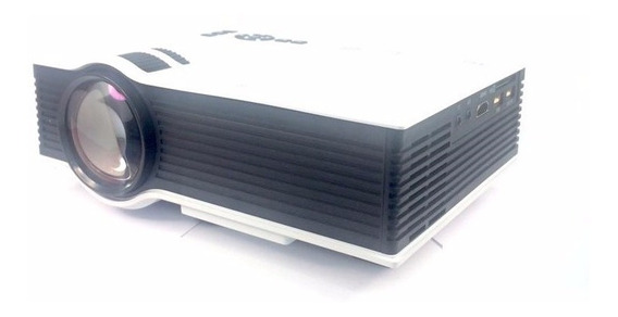 Mini Projetor Portatil Led 130pol 800lumens Uc40 Hdmi Data Show Video
