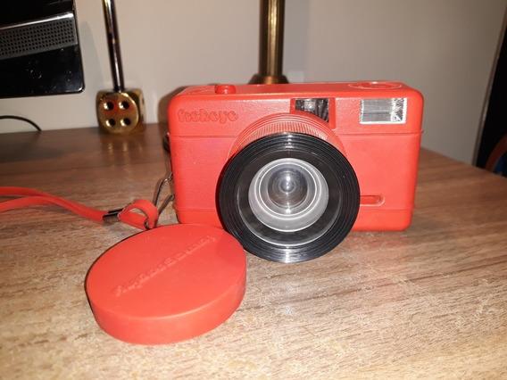 Linda Câmera Fotográfica Máquina Lomography Fisheye Vermelha