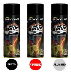 Tinta Spray Alta Temperatura Escapamento Pinça Moto Carro