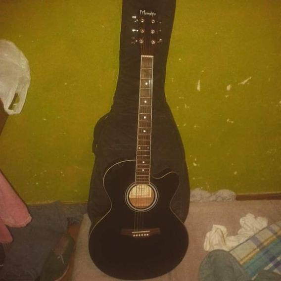Guitarra Electroacústica Memphis Negra