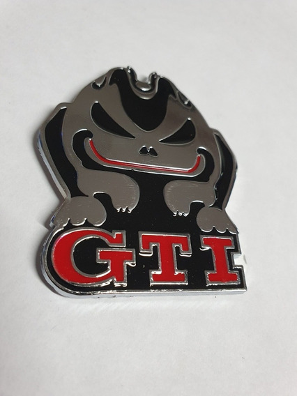 Emblema Metálico Cromado Vw Rabbit Gti Coneja Euro Vag Golf