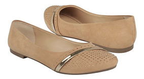 Flats Tropicana Para Mujer Suede Camell 46050