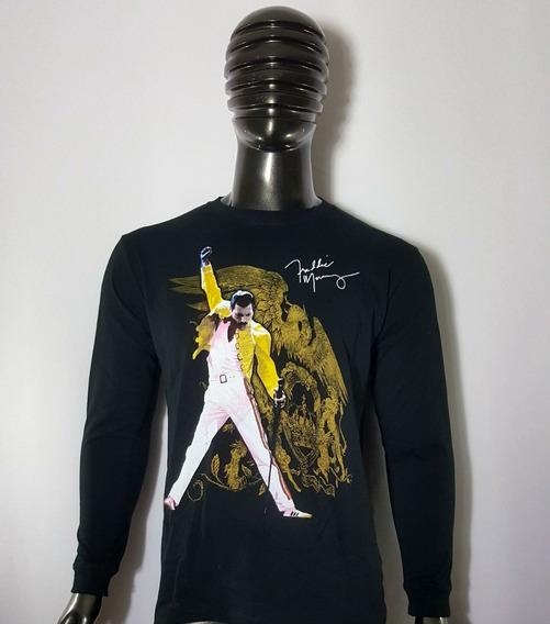 X2 Poleras Manga Larga Freddie Mercury Queen / Envio Gratis
