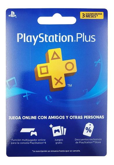 Playstation Plus Tarjeta 3 Meses Usa Ps4 Ps3 Semtic Online