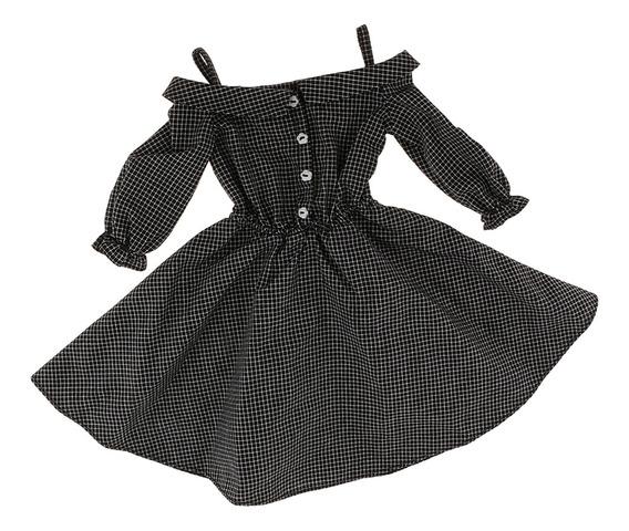 Vestido De Manera De Correa De Hombro De Tela Escocesa Ropa