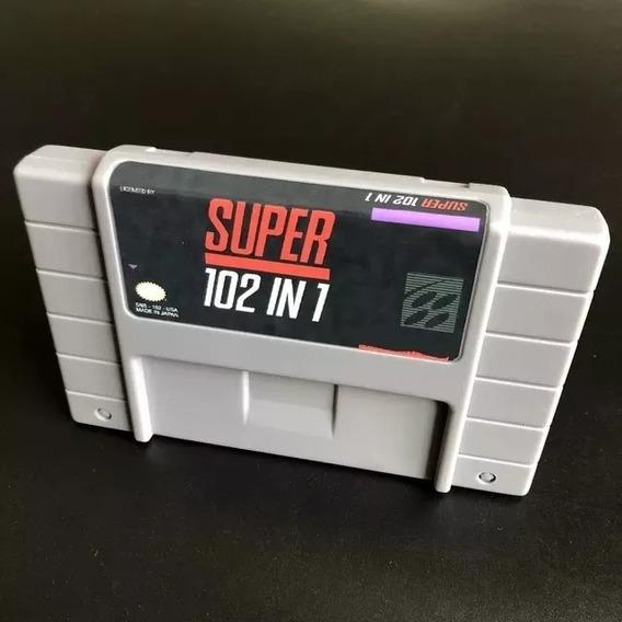 Fita Cartucho Super Nintendo 102 Jogos Em 1 Multi - Snes