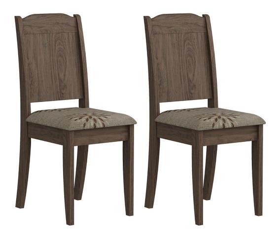 Conjunto 2 Cadeiras Bárbara Cimol Marrocos/café Fewt