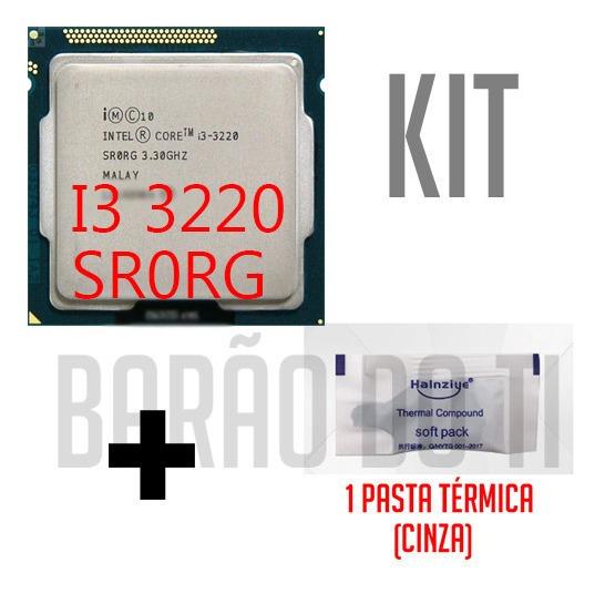 Processador Intel Core I3 3220 Sr0rg + Pasta Térmica
