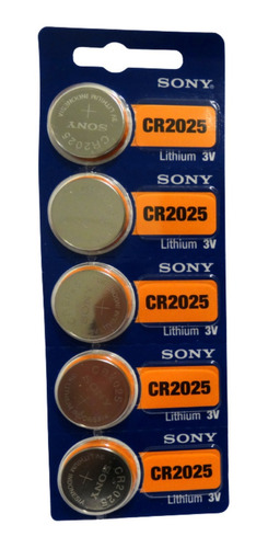 Imagen 1 de 7 de Pila Sony Cr 2025 5u Ideal Electronic Original Distribuidor