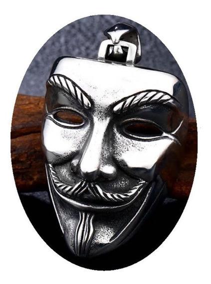 Vendetta Mascara Dije Collar Acero Inoxidable Unisex N6g5f2