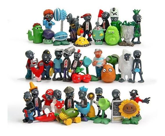 Coleção 40 Miniaturas Plants Vs Zombies Boneco Plantas Game