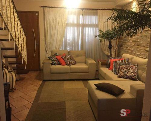 Imagem 1 de 21 de Venda Sobrado - Com 02 Dorm, Sndo 01 Com Ar Condicionado, 02 Vagas - 93m E Quintal - - V2763 - 69494872