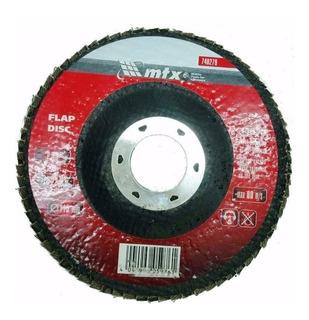 100 Disco De Lixa Flap 4.1/2 Grão 80 Mtx P/ Lixadeira