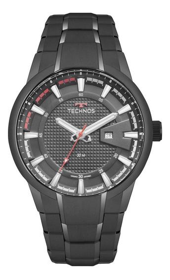 Relógio Masculino Technos Racer 2117law/4p 48mm Aço Preto