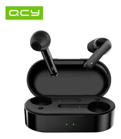 Qcyt3 Fones De Ouvido Sem Fio C/ Carregamento Caso Bluetooth