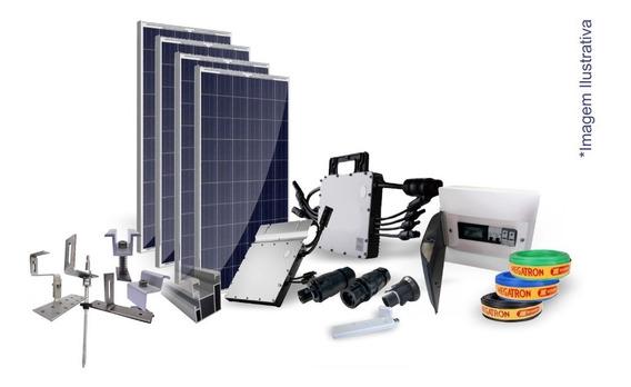 Kit Completo Usina Solar Com 4 Painel Fotovoltaico 1,320 Kwp
