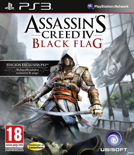 Assassins Creed Black Flag 4 - Fisico Ps3