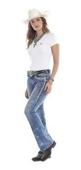 Calça Tassa Jeans Feminina Country Bordada Para Rodeio
