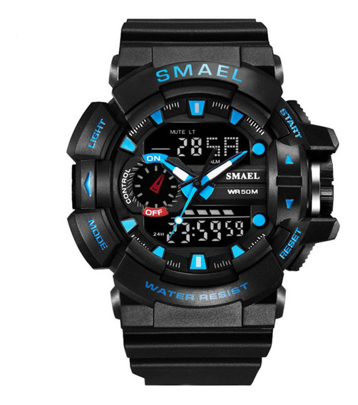 Relógio Digital De Quartzo Esportivo Masculino Blackblue